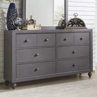 Cottage View 6 Drawer Dresser Gray