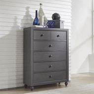 Cottage View 5 Drawer Chest Gray