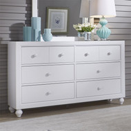 Cottage View 6 Drawer Dresser White