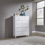 Cottage View 5 Drawer Chest White