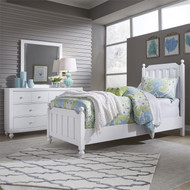 Cottage View Panel Bed Twin Size White