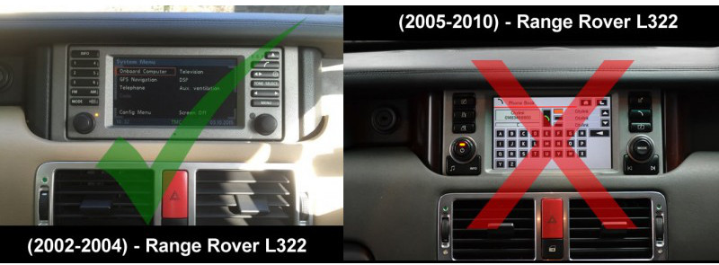Range Rover 2002-2004 L322 Radio's & Obstacles - Audio Tech Direct