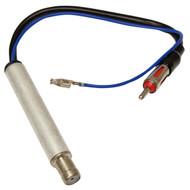 Carav 13-012 Phantom Power Amplified DIN ISO Aerial Adaptor