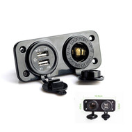 Dual USB Car Cigarette Lighter Socket Splitter & Charger