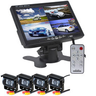 "Car CCTV System With 4 Cameras & 7"" Split Screen Monitor"