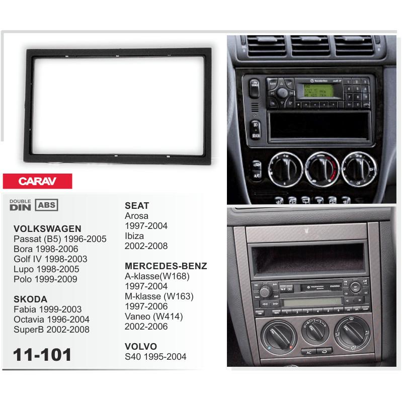 Carav 11-101 Double DIN Fascia Panel For Mercedes M-Class W163