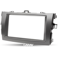 Carav 08-003 Double DIN Fascia Panel For Toyota Corolla Dark Gray