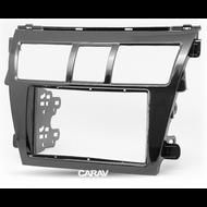 Carav 11-403 Double DIN Fascia For Toyota Yaris Sedan Gloss Black