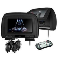"UG Electronics HD909VDB Twin 9"" Rear Headrest DVD System Black"
