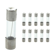 10 X 2 AMP Glass Tubes A2 20mm Quick Blow Radio Fuse