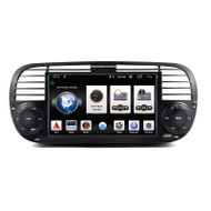 PbA FI500B Android 9.0 After-Market Radio For Fiat 500 (Black)