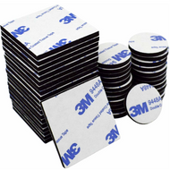 50 Piece Square and Round Double Sided Sticky Pads Black