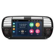 "UGE PSA7050FL_B 7"" Android GPS Sat-Nav Radio For Fiat 500 Black"