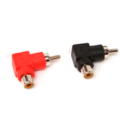 ICT-32.104 Male to Female Right Angled RCA Adapter Plugs (Pair)