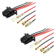 Speaker Cable Adapters Front/Rear For Mercedes C-Class, CLK, E-Class