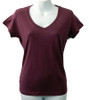 Grape Organic Bamboo Fibre V-Neck T-Shirt
