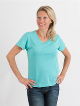 Organic Bamboo & Cotton Women's T-Shirt - Scoop Neck