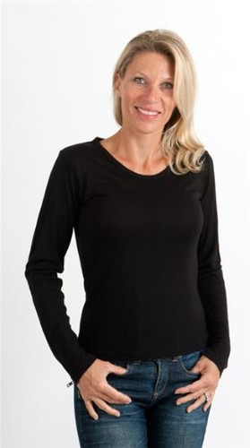 Black 100% Bamboo Long Sleeved T-Shirt