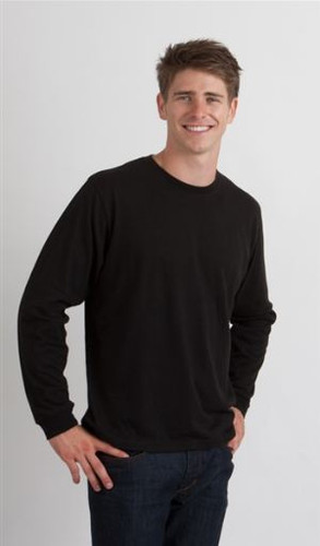 Black Men's Long Sleeved Bamboo T-Shirt
