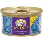 Wellness Canned Chicken & Herring Cat Food (24x5.5 Oz)
