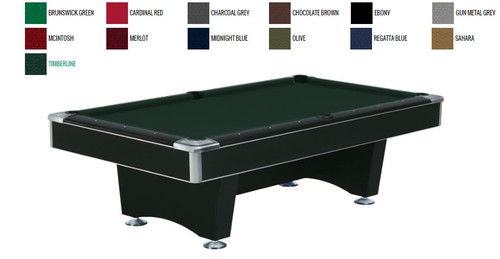 This 8' Centurion Table is displayed using  Brunswick Timberline Centennial Cloth