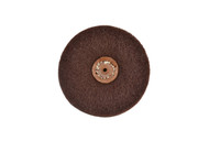 "Satin Finish Wheel 4"" x 3 Ply W/Plastic Center For Tapered Spindle Fine Grade (pack of 1)"