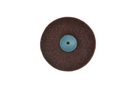 "Satin Finish Wheel 4"" x 2 Ply W/Plastic Center For Tapered Spindle Fine Grade (pack of 1)"