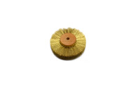 "Crimped Brass Wire Brush, 3 Rows of Wire, 3"" Diameter"
