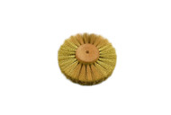 "Crimped Brass Wire Brush, 3 Rows of Wire, 4"" Diameter"