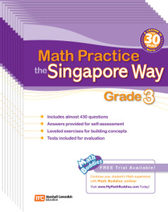 Math Practice the Singapore Way Grade 3 (10 Pack)