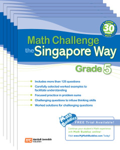 Math Challenge the Singapore Way Grade 5 (6 Pack)