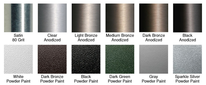 flagpole finish options