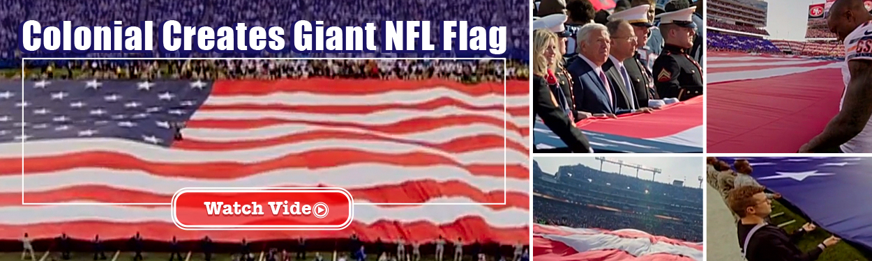 Colonial Flag Create Giant NFL Flag
