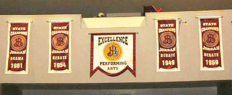 school auditorium flags and banners
