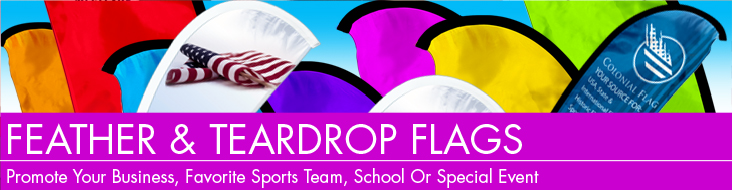 feather banners and teardrop banners