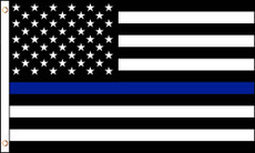 Thin Blue Line American Nylon Flag - 3 ft. x 5 ft.