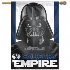Brigham Young University / Star Wars - 28 in. x 40 in. Vertical Hanging Flag