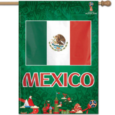FIFA World Cup Mexico 2018 - 28 in. x 40 in. Vertical Hanging Flag