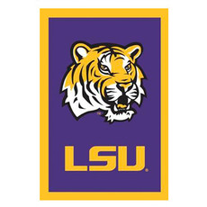 NCAA Louisiana Tigers - 28 in. x 44 in. Vertical Hanging Applique Flag