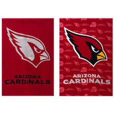 NFL Arizona Cardinals - 29 in. x 43 in. 2 Sided Suede Glitter Flag