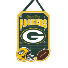 NFL Green Bay Packers - 20.5 in. x 16.5 in. Felt Door Décor