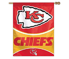 NFL Kansas City Chiefs - 27 in. x 37 in. Vertical Hanging Flag