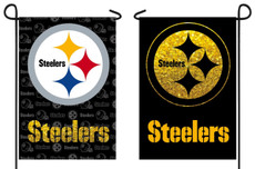 NFL Pittsburgh Steelers - 12.5 in. x 18 in. Suede Glitter Garden Flag