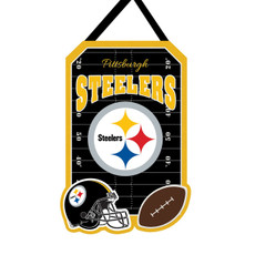 NFL Pittsburgh Steelers - 20.5 in. x 16.5 in. Felt Door Décor