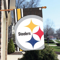 NFL Pittsburgh Steelers - 24 in. x 36 in. Bold Logo Vertical Banner
