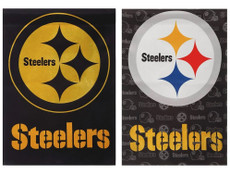 NFL Pittsburgh Steelers - 29 in. x 43 in. 2 Sided Suede Glitter Flag