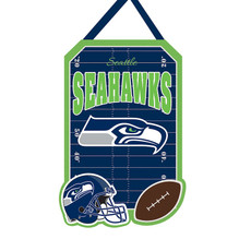 NFL Seattle Seahawks - 20.5 in. x 16.5 in. Felt Door Décor