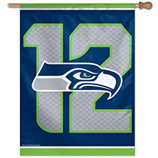 NFL Seattle Seahawks 12 - 27 in. x 37 in. Vertical Hanging Flag