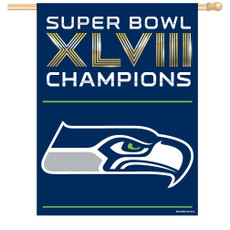 NFL Seattle Seahawks Super Bowl Champions - 27 in. x 37 in. Vertical Flag