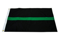 3'x5' Nylon Thin Green Line Flag